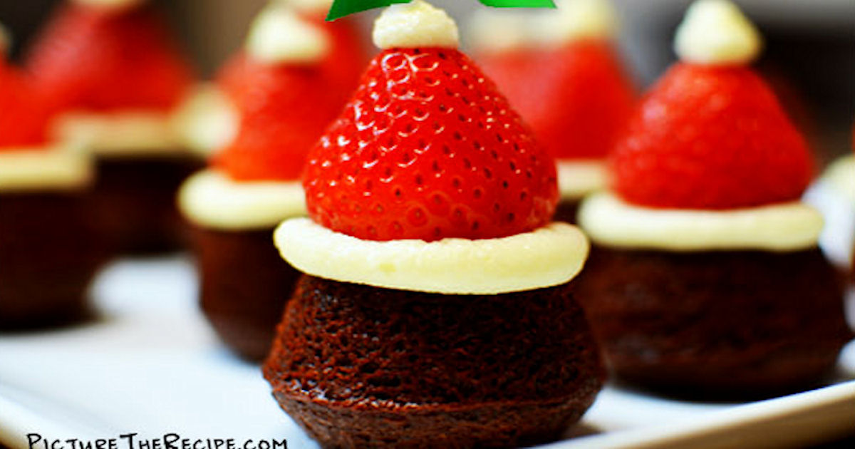Diy make mini santa hats christmas recipe pictures photos
