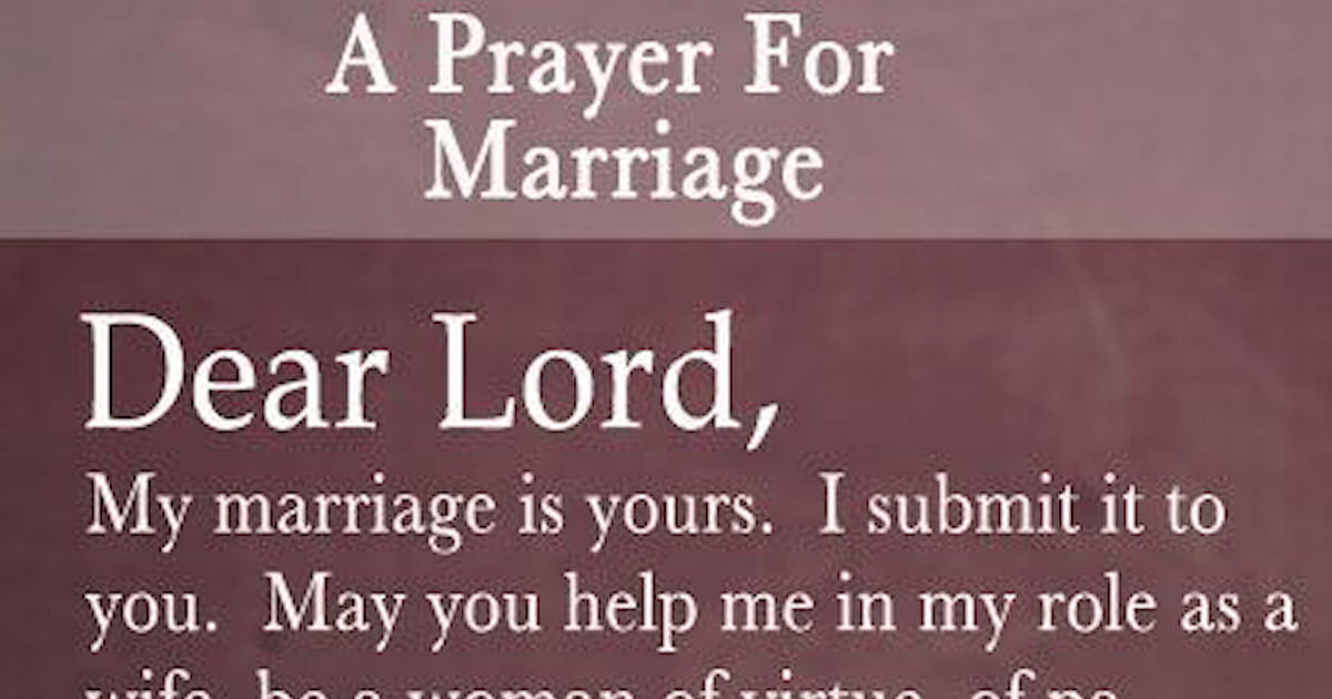 new marriage prayer