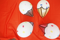 Birthday cupcake balloons