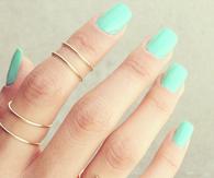 Sea green nails