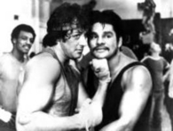 Sylvester Stallone and Roberto Duran, Boxing Hall of Famers