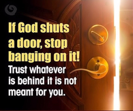If God shuts a door