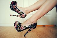 Floral stilettos