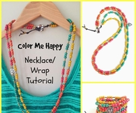 DIY Colorful Wrap Necklace Tutorial