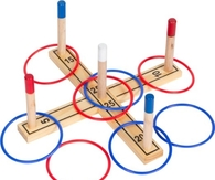 Trademark Innovations Ring Toss  Pine Wood - 8 Rings Included