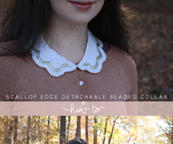 DIY Beaded Scallop Edge Detachable Collar
