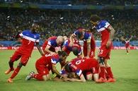 Team USA celebrates Victory