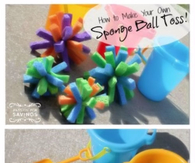 How to Make Your Own Sponge Ball Toss