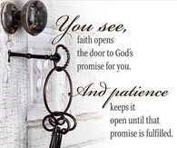 Faith Opens the Door