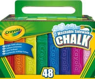 Crayola 48 Count Sidewalk Chalk Time to get messy