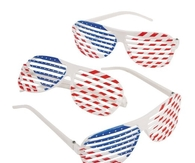 Patriotic Shutter Shades Glasses (1 dozen)