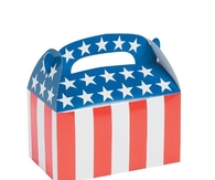 1 Dozen  Paper Patriotic Flag Treat Boxes