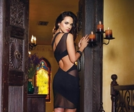 Sexy Black Wrap-A-Round Dress
