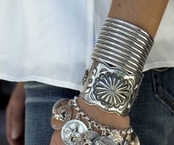 Silver Arm Bands & Bracelets