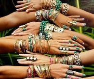 Hands Adorned with Bangles & Rings