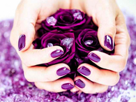 Pretty Purple Nail Polish