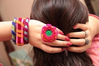 Crocheted Flower Ring