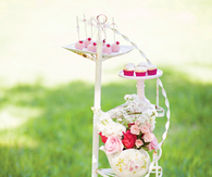 Plant Stand Used for Party Food