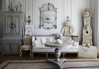 Shabby Chic Ivory Living Room