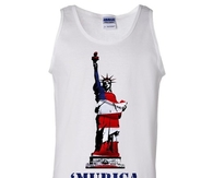 Merica American Flag Statue of Liberty Tank Top
