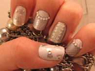 Pretty Lacy Design Nails