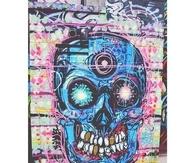 Retro Skull Art