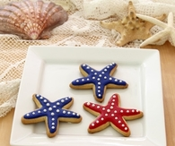 Patriotic Starfish Sugar Cookies
