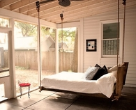 Enclosed Porch with Hanging Bed