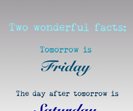 Two wonderful facts