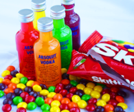 Vodka and skittles