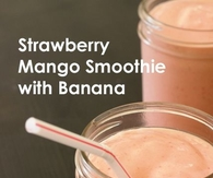 Strawberry Banana & Mango Smoothie to go
