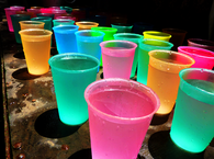 Colored cup drinks