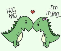 Hug me, im trying