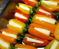 Mini peppers with String cheese