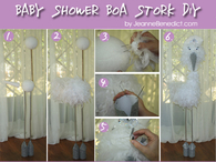 DIY Baby Shower Boa Stork