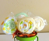 DIY Wash Cloth Lollipops