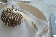 Cardboard gourd place settings
