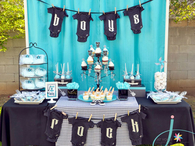 Rock party Baby shower theme