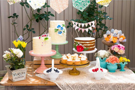Flower lady baby shower theme