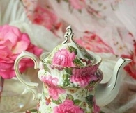 Cabbage Rose Tea Set for One