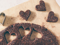 Chocolate heart pastries
