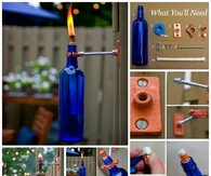 DIY Wine Bottle Torch