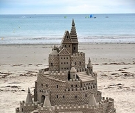 Huge sandcastle