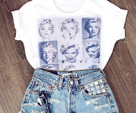 Marilyn tee and shorts