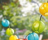 Colorful hanging lanterns