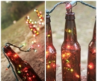 DIY Beer Bottle Table Runners
