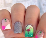 Flamingo Summer Nails