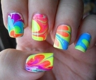 Colorful Swirly Nails