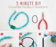 DIY Necklace Headband