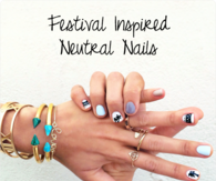 DIY Festival inspired Nails